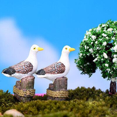 Sea Bird Seagull Stand Stump Miniature Fairy Garden Home DIY Decoration Xed*-*