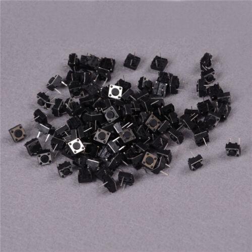 100Pcs Momentary Tactile Tact Push Button Switch 2 Pin DIP 6x6x4.3mm High 4.SQ