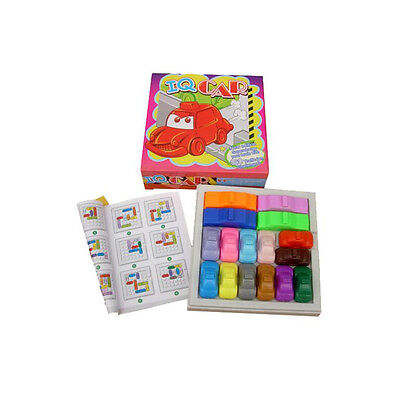 Kinder Plastik Traffic Jam Slide Auto Gehirn Teaser Puzzle Smart Iq Spiel PDH W0 ()