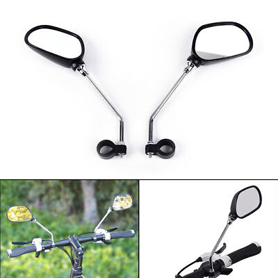 1 pair bicycle cycling bike handlebar flexible back rear view safety mirror GY