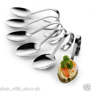 6 first course serving spoons appetizer canape dish for Canape serving dishes