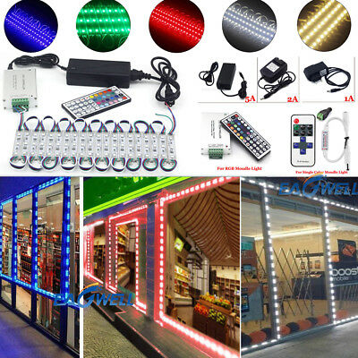 US Brightest Store Front LED Window Light Module with US power supply + Remote - Halloween Wedding Supplies