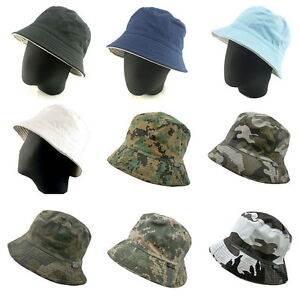 Reversible-Outdoor-Bucket-Hat-Fishing-Camping-Bush-Walking-Foldable-Wide-Brim