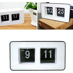 Retro Modern Scale Digital Auto Flip Single Stand Desk Table Date Clock Unique