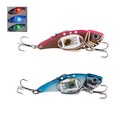 Deepwater Fishing LED Fish Lure Bait Light Flashing Lamp Tackle Hooks Outdoor -