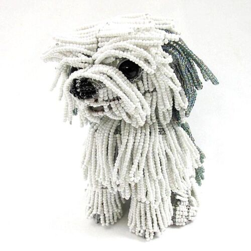 Berkley the Sheepdog Glass Beaded Sculpture