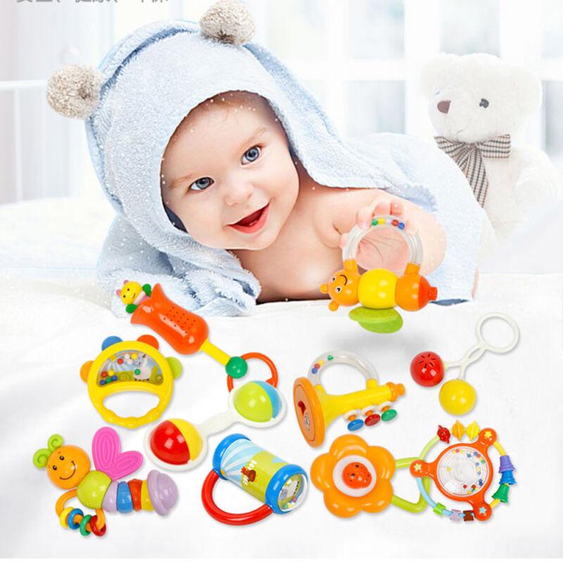 10tlg Baby Spielzeug Motorik Rasseln Greiflinge Rassel Babyrassel Aus DE DHL