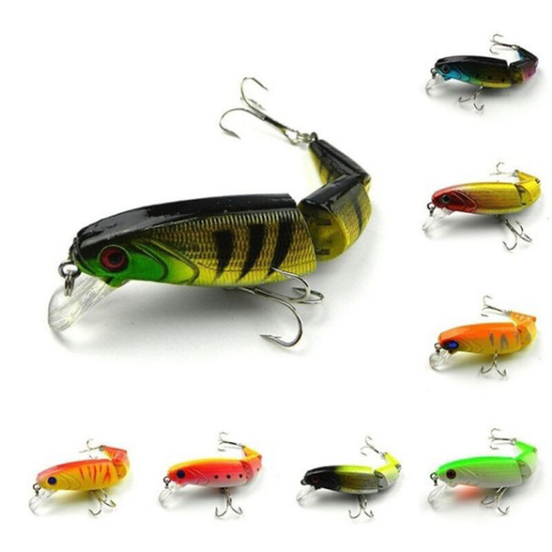 10cm Segment Swimbait Lures Fishing Bait Fish Lure Crankbait Hooks Multi-joint