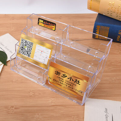 8 Pocket Desktop Business Card Holder Clear Acrylic Countertop Stand Displayjdc