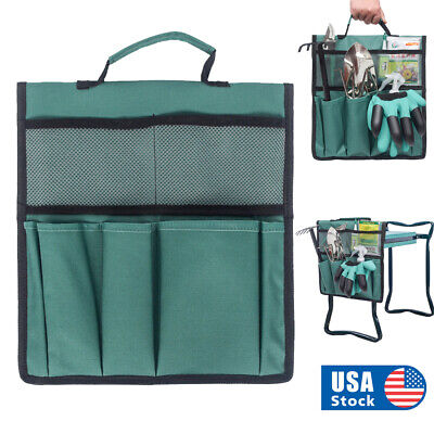 Foldable Garden Kneeler Seat Tool Bag Storage Pouch Outdoor Work Cart Bag USA