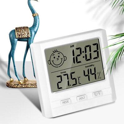 Digital Temp Humidity Thermometer Hygrometer Luftfeuchtigkeitsmesser Weiß DE NEU