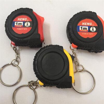 Mini metro a nastro con portachiavi Plastica portatile 1m Righello retrattile PB
