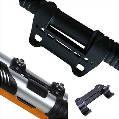 1X Black Mini Bike Bicycle Pump Holder Portable Pump Retaining Clips Bracket GS