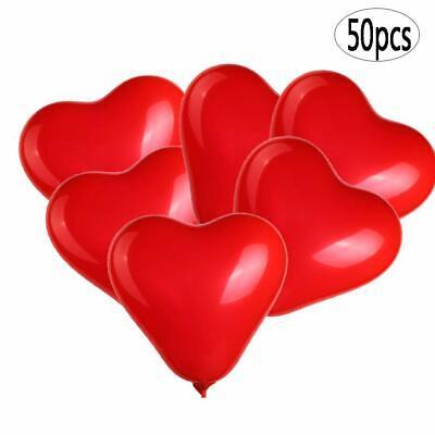 Valentines Party Decor (50 Pcs Heart Shaped Balloons 10