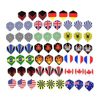 60pcs/lot dart flights in 20 kinds of patterns darts fin feather accessory J