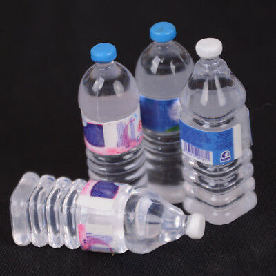 2pcs Bottle Water Drinking Miniatures DollHouse 1:12 Accessory Collection Dec-CA