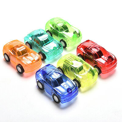 1Pcs Pull Back Car Vehicle Toys Gifts Children Kids Transparent Mini Car Toy LY