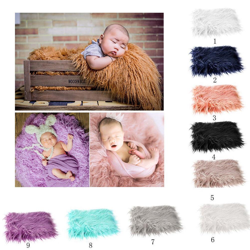 Chic Baby Photo Prop Backdrop Newborn Photography Soft Fur Quilt Mat Blanket ghj