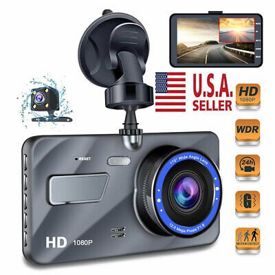 "1080P HD 4""  Car Vehicle Dashboard DVR Camera Video Recorder Dash Cam G-Sensor"