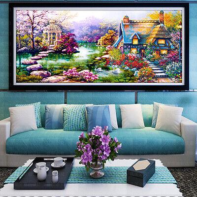 DIY 5D Diamond mosaic Garden lodge Painting Cross Stitch Kit Embroidery Home new