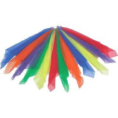 Chiffontücher Tanztücher jonglieren Zauberei Rhythmiktüch Seidentücher set 12st
