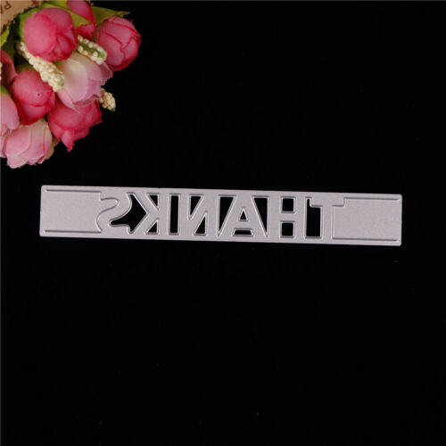 Greeting Words THANKS Metal Cutting Dies Stencil Scrapbook Paper Cards Craft TR - $4.36