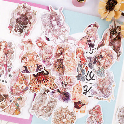 41pcs Fairy Lolita Girl Sticker Diy Notebook Stationery Diary Decor StickerS! - Fairy Stickers