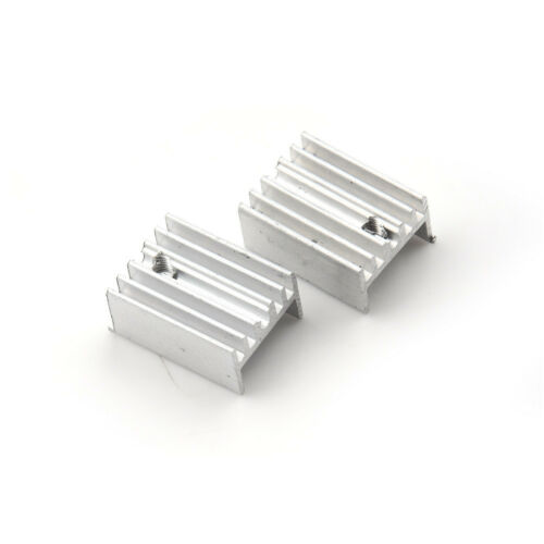 10x Aluminum Heatsink Heat Sink Sets for TO-220 Transistor 20x15x10mm SM WQ