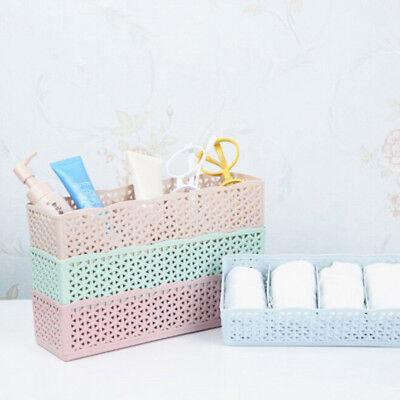 5 Cells Organizer Storage Box Tie Bra Socks Underwear Drawer Cosmetic Divider GY