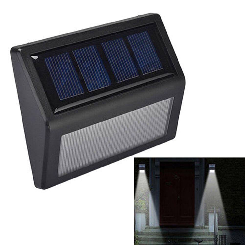6 Led Solar Power Light Sensor Wall Light Outdoor Waterproof Garden Lamp Cad Picclick Ca