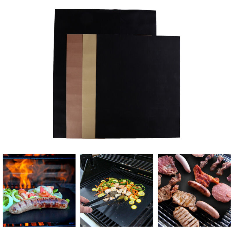 Non-Stick Bbq Grill Pad Barbecue Baking Reusable Cooking Plate Grill Mat Tool ox