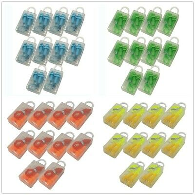 10pairs Portable Anti Noise 33db Sleep Ear Hearing Protection Silicone Ear Plugs
