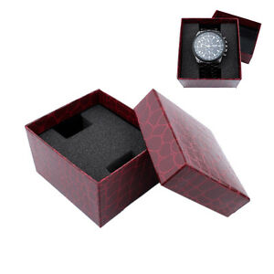 Red PU Noble Durable Present Gift Box Case For Bracelet Jewelry Watch ONZY