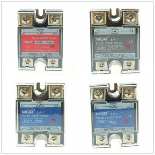 SSR Solid State Relay Module DC AC Aluminum Heat Sink 10A 25A 40A 50A 60A1Pcs