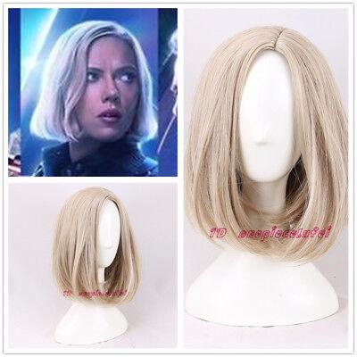 2018 New Movie Avengers: Infinity War Black Widow cosplay wig light blonde - Movie Wigs