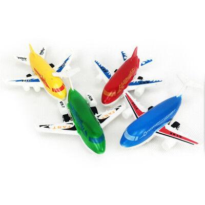 Plastic Air Bus Model Kids Children Pull Back Airliner Passenger Plane Toy TDCA