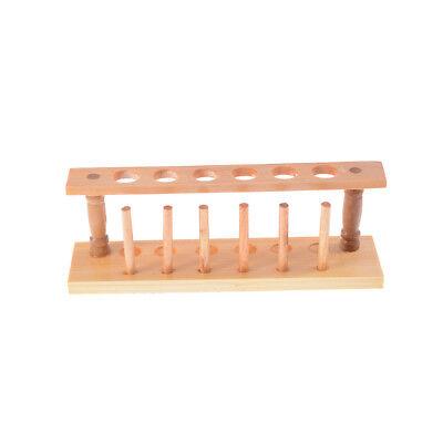 6 Holes Lab Wooden Test Tube Storage Holder Bracket Rack With Stand Sticks (Lab Test)