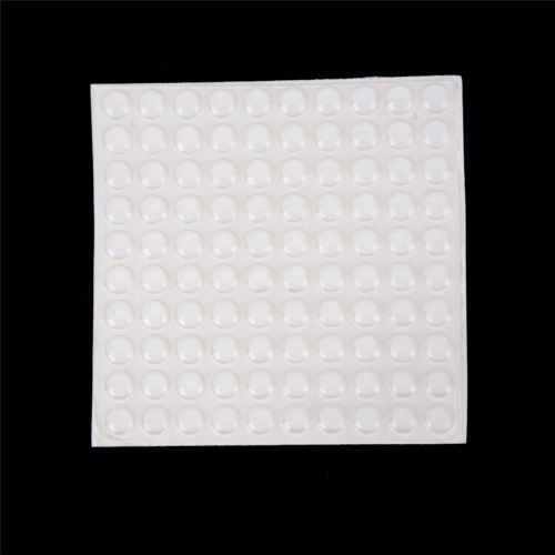 100pc+Door+Self+Adhesive+Rubber+Door+Buffer+Pad+Feet+Semicircle+Bumpers+UnP+Bw