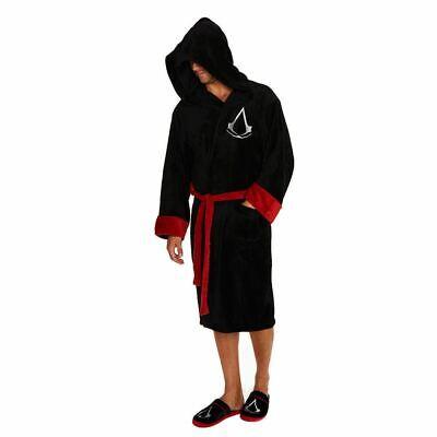 Assassins Creed Logo Schwarz Bademantel - Einheitsgröße Erwachsene Hausanzug ()