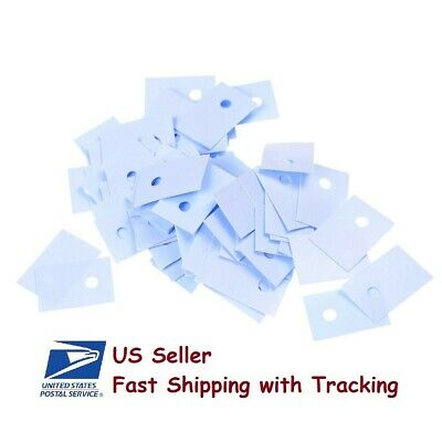 100 Pcs Silicon Thermal Heatsink Insulator Pads For To-220 Transistor -us Seller