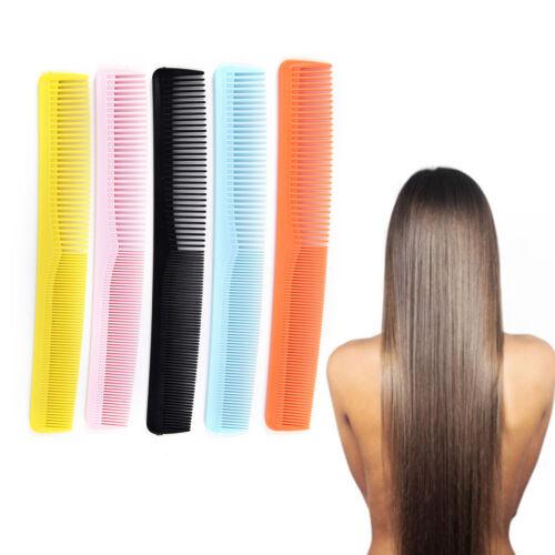5xSalon Anti-Statik Frisur Haar schneiden Kunststoff Kamm feinen Zahn WerkzeugST