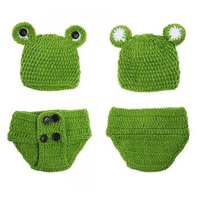 Baby Mädchen häkeln stricken Kostüm Froschkönig Fotografie Prop Outfi - Häkeln Kostüm