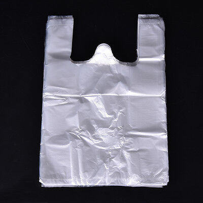 100X Design Plastic T-Shirt Retail Shopping Supermarket Bags Handles-PackagingZY