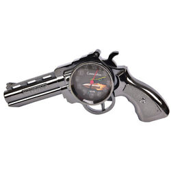Novelty Pistol Gun Shape Alarm Clock Desk Table Home Office Decor Gift H&P