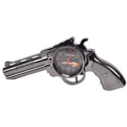 Novelty Pistol Gun Shape Alarm Clock Desk Table Home Office Decor Gift Rq