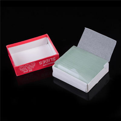 Professional 50pcs Blank Microscope Slides Accessories Cover Glass Lab S250