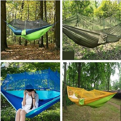 Double Person Hanging Hammock Travel Outdoor Camping Tent Swing Bed Mosquito Net ()