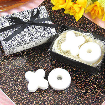Trendy Cute Scented Soap Wedding Favors for XO Gift Party Baby Shower White RS