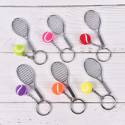 Tennis Sport Ball keychain keyring souvenir gift pendant 6 Color key ring RS