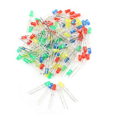 100pcsset 3mm Led Light Emitting Diodes Red Green White Blue Yellow 20ma .j